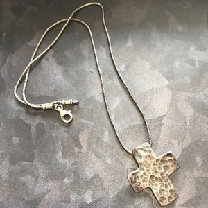 Silpada hammered cross necklace